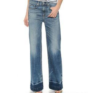 Rag & Bone Wide Leg Loose Fit Jeans